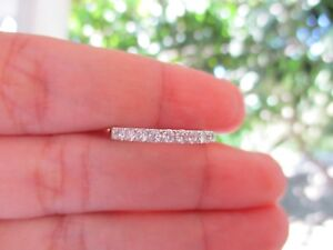 .44 Carat Diamond White Gold Half Eternity Ring 14k codeHE01 sepvergara