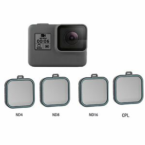 8046f818a29 TELESIN ND4 8 16 CPL Polarized Lens Filter For Gopro Hero 7 6 5 ...