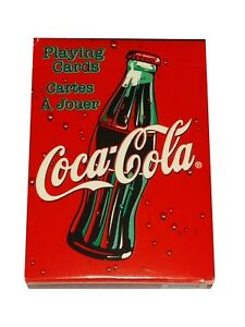Rare-Bicycle-Coca-Cola-Coke-Sparkle-Bubble-Playing-Cards-red-and-white