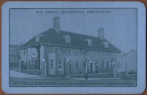 Playing-Cards-Single-Card-Old-MITCHELLS-BUTLERS-Brewery-Advertising-Art-Pub-BEER