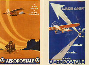 LOT-DE-2-CARTES-POSTALES-AEROPOSTALE-PHILAPOSTE