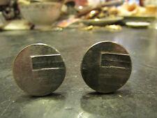 ancienne paire de boutons de manchettes metal