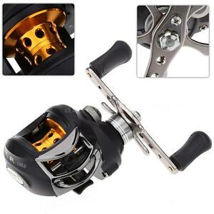 10BB Left Hand Bait Casting Fishing Reel Ball Bearings Spinning 6.3:1 Black