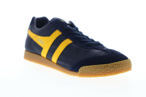 Gola Harrier Nylon CMA176 Mens Blue Lace Up Low Top Sneakers Shoes 7