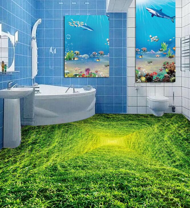 3D Erba Traforo 479 Pavimento Foto Wallpaper Murales Muro Stampa Decalcomania