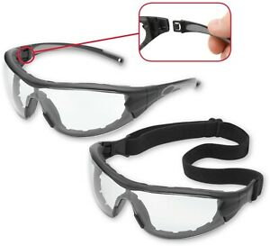 Gateway Swap Clear Lens Foam Padded Safety Glasses Hybrid Goggles Z87+