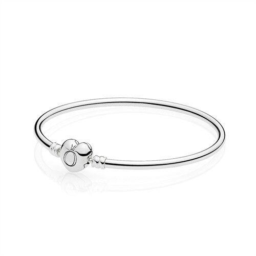 PANDORA Armreif 925er Silber Herzverschluss 596268   eBay 9da556c548