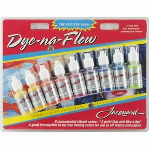 Jacquard-Dye-Na-Flow-Exciter-Ink-Bottles-Acrylic-For-Material-Pack-14ml-9-Pkg
