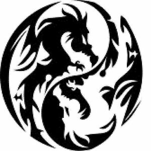Image Is Loading SILHOUETTE CROSS STITCH CHART YIN YANG DRAGONS