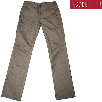Pantalon pinces large marron I.CODE by IKKS  femme
