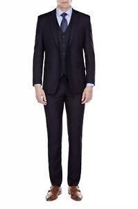 Mdrn Uomo By Braveman Men S Slim Fit 3 Piece Suit Navy Size 44r X 38w Ebay