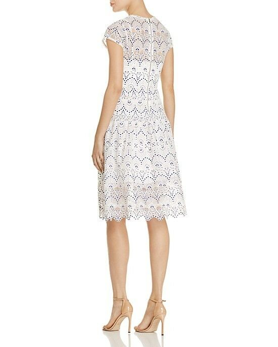 NWT  298 Parker Parker Parker Talulah Embroidered Lace Dress White bluee Size X-SMALL XS bridal da960b