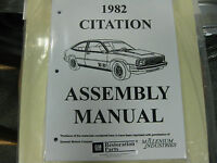 1982 Chevy Citation (all Models) Assembly Manual