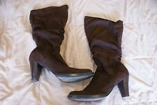 Womens size 10 No Boundaries brown slouch high heeled boots