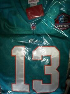 promo code 71f0e 08097 Details about Brand New Green Miami Dolphins #13 Dan Marino Throwback HOF  Patch sewn Jersey
