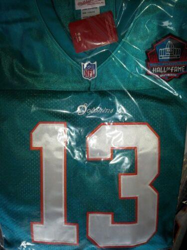 Brand New Green Miami Dolphins #13 Dan Marino Throwback HOF Patch sewn Jersey