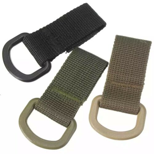 2 Outdoor EDC Military Carabiner D-Ring Molle Webbing Backpack Buckle Hook Clip