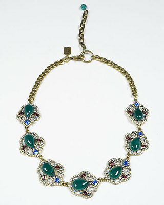 Badgley Mischka Multi-Stone Cluster Necklace