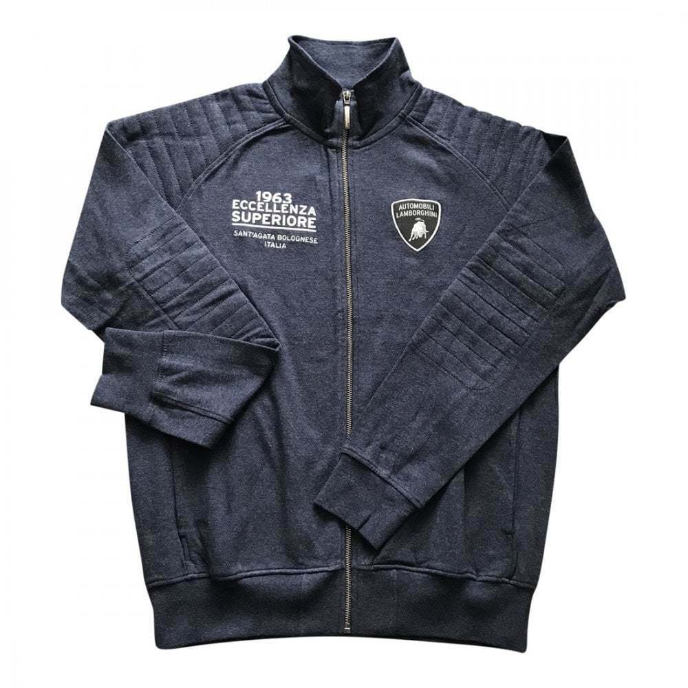 Lamborghini Driving Zip Up schweißhemd Dark Navy Melange