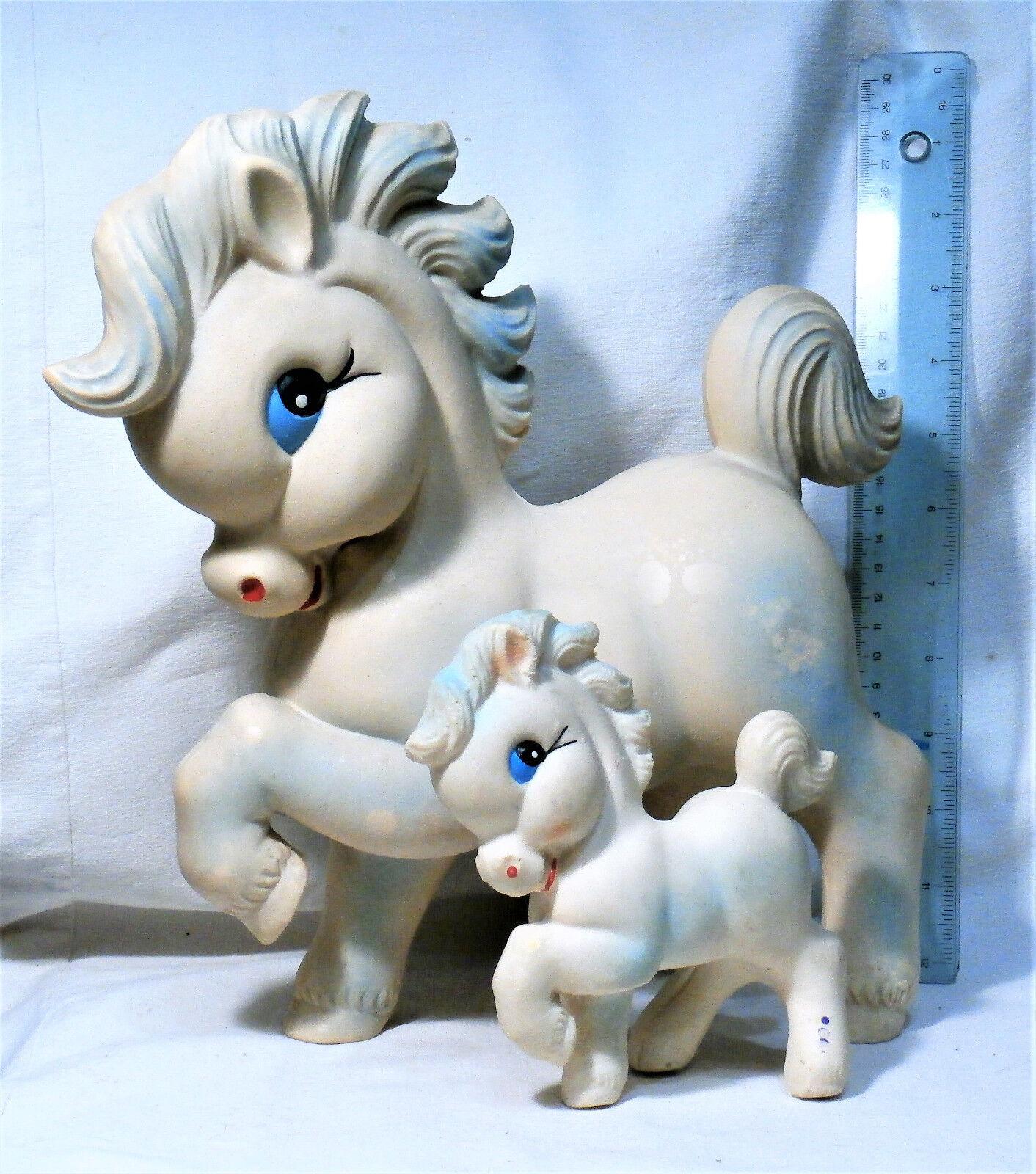 2 PS caballo Feliz Pony Vintage Muñeca De Juguete De Goma Squeaky Biserka Art 282 Yugoslavia