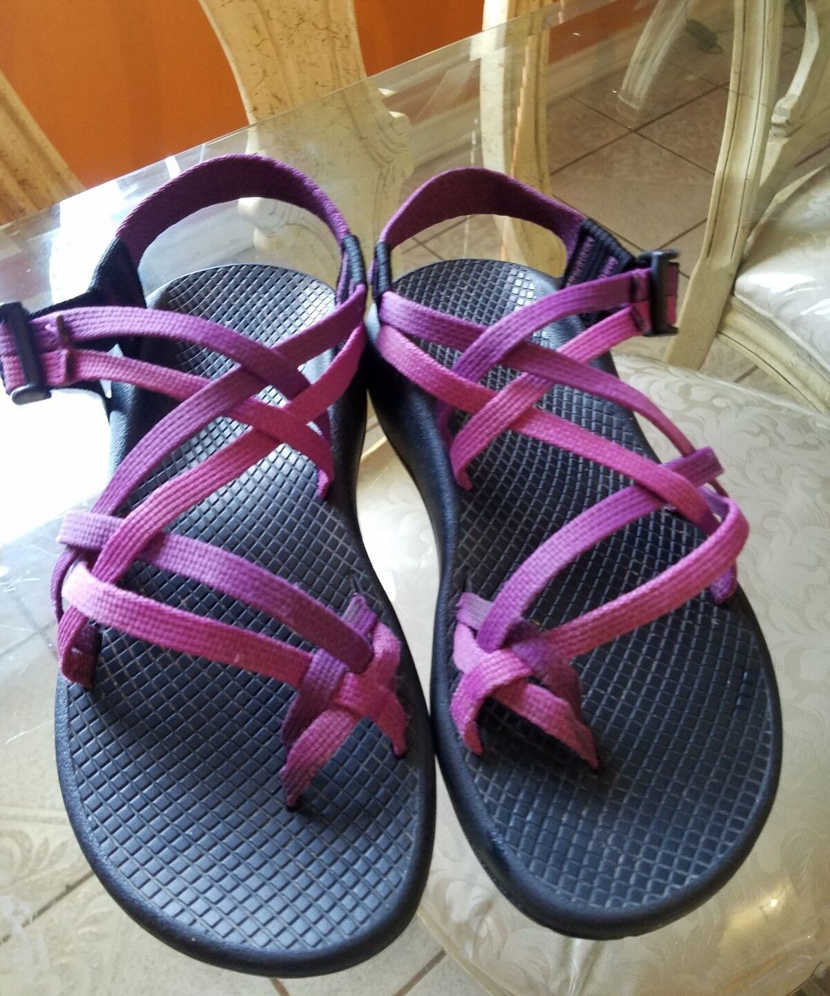 Chaco Strappy Purple Vibram Support Sandales Schuhes Damenschuhe SZ W6