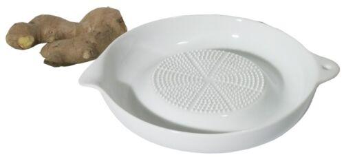 Ø 17,5 cm Ingwerreibe Reibe mit scharfer Reibfläche Porzellanreibe