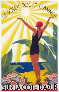 TX361-Vintage-Cote-D-039-Azur-France-French-Travel-Poster-Broders-Print-A3-A4