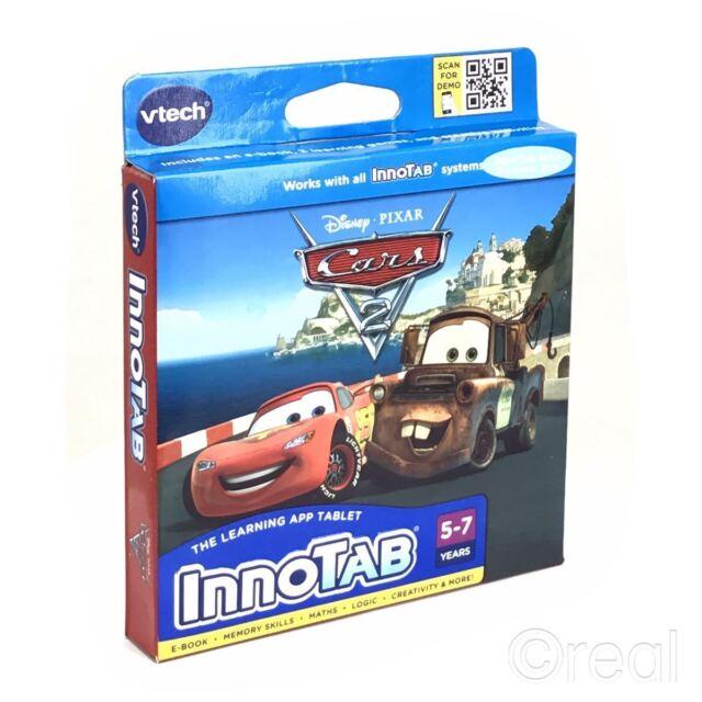 VTech InnoTab 1 2 3 3S & Max Tablet Disney PIXAR - Cars 2 Games Software 5-7 Yrs