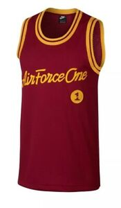 Details about Nike Sportswear Air Force 1 One Basketball Jersey Size M# AJ2374 677 $60