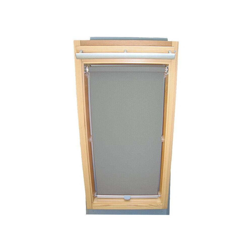 Dachfensterrollo Sichtschutzrollo Rollo für Braas BJ (Junior) - grau | Exzellente Verarbeitung
