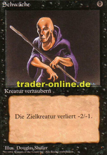 Weakness Magic limited black bordered german beta fbb foreign deut 2x Schwäche