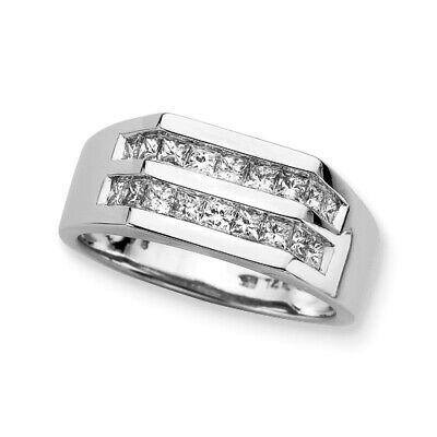 Diamantring Herren 1.00 ct. Karat (IFF) Lupenreine Diamanten 58514K Weißgold | eBay