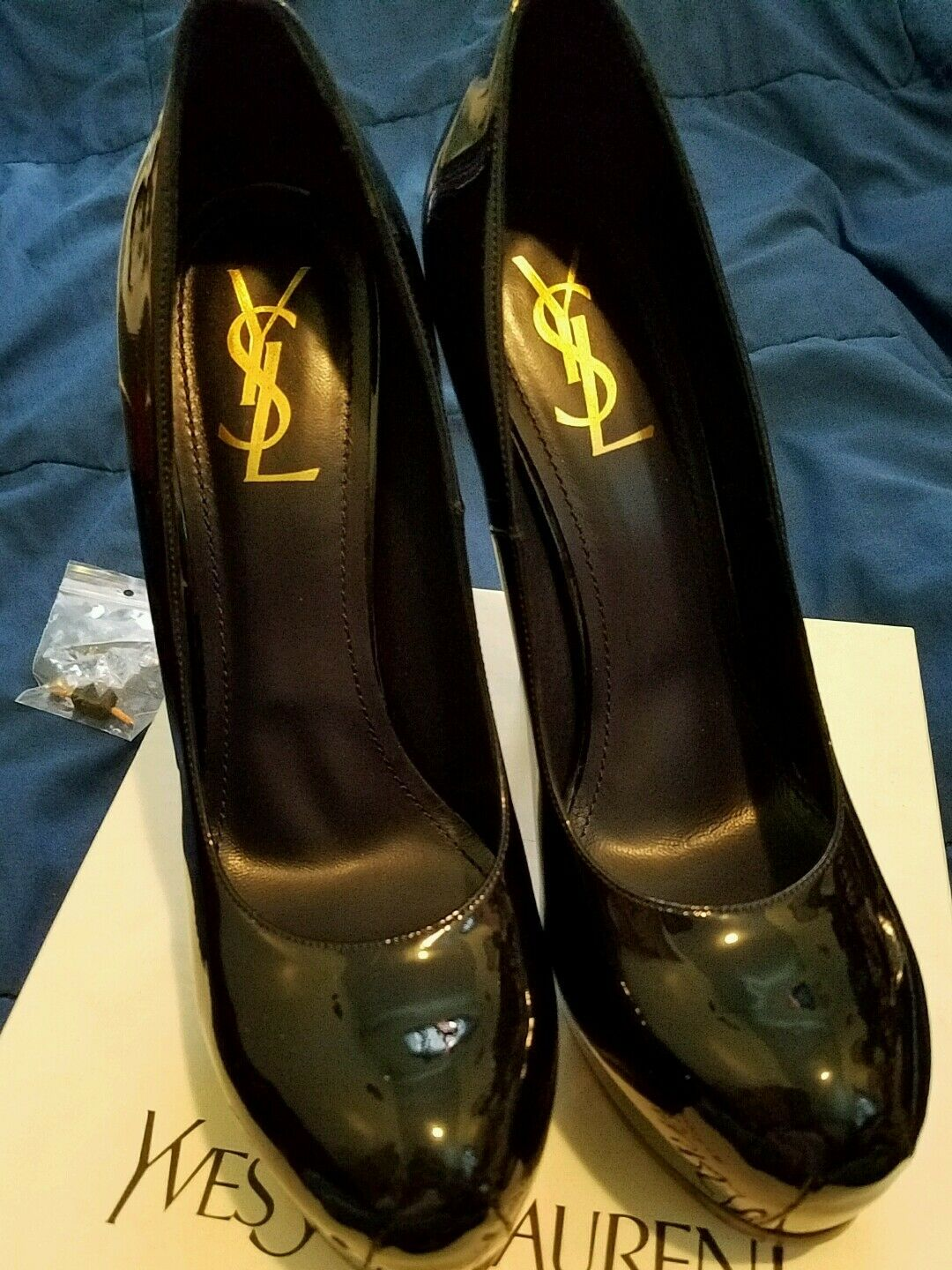 YSL  Tritoo Patent Leather Navy Pups 42  elementi di novità