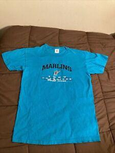 Florida Marlins 1997 World Series Champions Single Stitch Shirt Sz Medium Delta