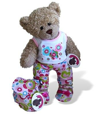 Flower Outfit Matching Bag & Shoes Teddy Bear Clothes fits Build a Bear Teddies