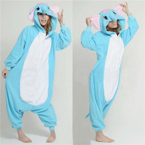Unisex adult kigurumi anime cosplay Party costume animal pajamas Sleepwear Suit