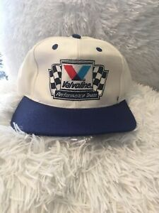 0da0beb90 Details about Vintage 80s/90s Valvoline Performance Team Car Racing NASCAR  White Snapback Hat