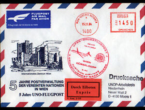 ENVELOPPE-illustree-034-WIEN-a-DUSSELDORF-034-Obliteration-Flamme-postale-AVIATION