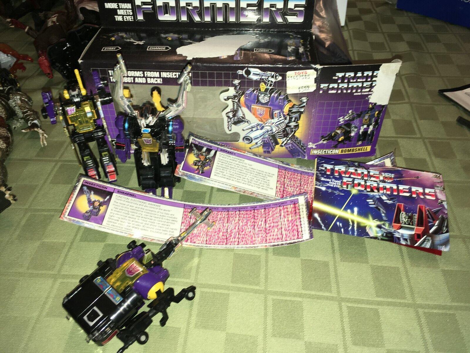 Transformers G1 contragolpe metralla & Bombshell insection Hasbro Figuras