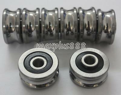 1pcs SG25 U Groove 8*30*14mm Sealed Ball Track Guide Bearing Textile Machine Hi