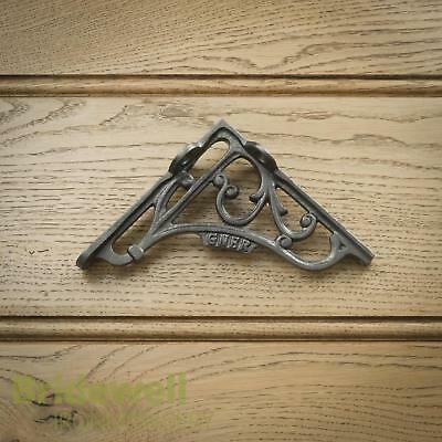 Heavy Cast Iron Wall Shelf Bracket Antique Style Decorative - GNER Coat Hook x1