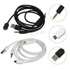 3,5 Mm Aux Audio Micro USB Power Cable Cargador Samsung Galaxy S3 Mini S4 Note nu3