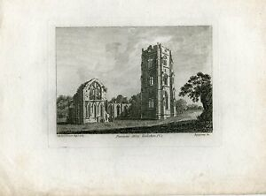 Ngaterra-Fountain-Abbey-Yorkshire-Engraved-By-Sparrow-IN-1785