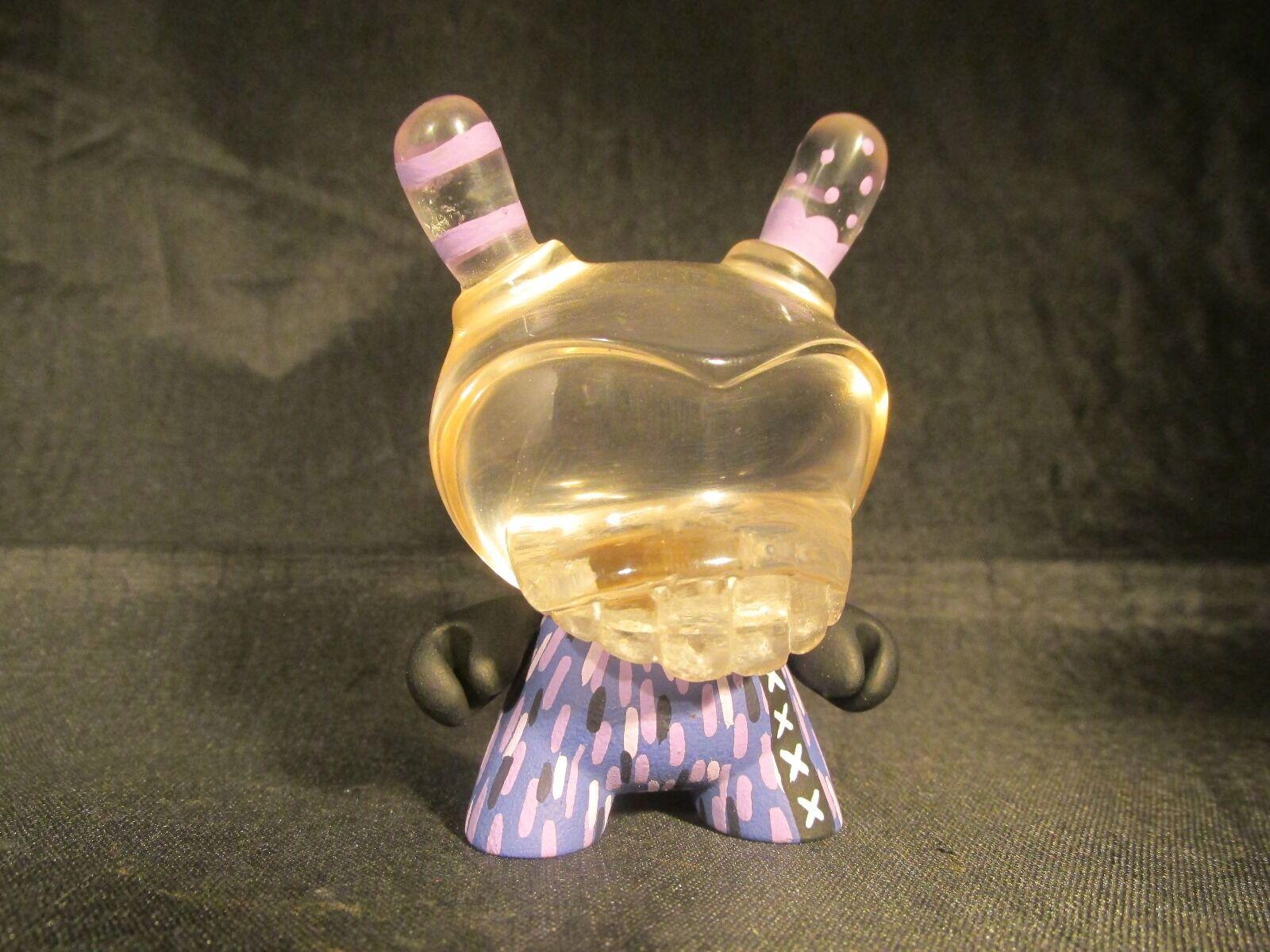 Personalizado 3  Kidrobot agente K Dunny por Rsin cabeza de resina transparente 1 1 Raro Exclusivo PUR