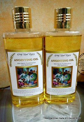 2  Anointing oil , frankincense, Myrrh and spikenard 250,8.45 OZ ml Holy Land