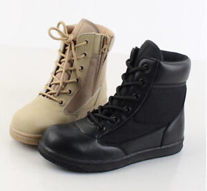 Kids Child Special Forces Military Boots Boys US Army SWAT Tactical Combat  Shoes | eBay