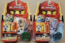 2 LEGO Ninjago Kruncha 2174  Wyplash 2175 Spinner Booster Blister Packs Skeleton
