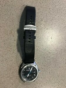 TOMMY-BAHAMA-TB00078-02-MEN-039-S-BLACK-DIAL-BLACK-LEATHER-BAND-WATCH-FOR-PARTS