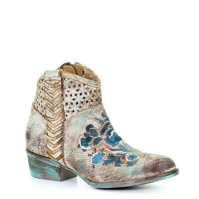 Corral Women/'s Camel Floral Embroidery Ankle Boot C3306 Round Toe