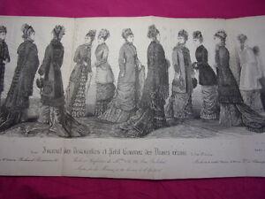 2019 Nouveau Style Double Planche Noir & Blanc Journal Des Demoiselles Octobre 1878 57x27 Cm Marchandises De Proximité